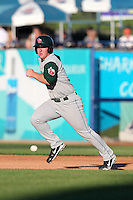 Fort Wayne TinCaps infielder Jedd Gyorko (5) during a game vs. the West Michigan Whitecaps at Fifth Third Field in Comstock Park, Michigan August 18, 2010.   Fort Wayne defeated West Michigan 5-1.  Photo By Mike Janes/Four Seam Images