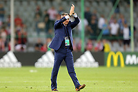 England Under21 manager Aidy Boothroyd applauds the crowd after England Under-21 vs Poland Under-21, UEFA European Under-21 Championship Football at The Kolporter Arena on 22nd June 2017