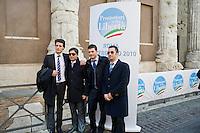 Roma, 24 Febbraio, 2010. Giovani attivisti del PDL alla presentazione dei Promotori della Libertà.