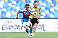 Dries Mertens of Napoli in action during the Serie A football match between SSC  Napoli and SPAL at stadio San Paolo in Naples ( Italy ), June 28th, 2020. Play resumes behind closed doors following the outbreak of the coronavirus disease. <br /> Photo Cesare Purini / Insidefoto