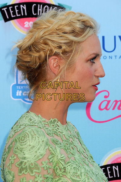 Brittany Snow<br /> 2013 Teen Choice Awards - Arrivals held at Gibson Amphitheatre, Universal City, California, USA. <br /> August 11th, 2013<br /> headshot portrait green lace profile hair up braid plait <br /> CAP/ADM/BP<br /> &copy;Byron Purvis/AdMedia/Capital Pictures