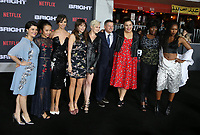 WESTWOOD, CA - DECEMBER 13: Rebekka Johnson, Kia Stevens, Brit Baron, Jackie Tohn, Kimmy Gatewood, Ted Sarandos,  Britney Young, at Premiere Of Netflix's 'Bright' at The Regency Village Theatre, In Hollywood, California on December 13, 2017. Credit: Faye Sadou/MediaPunch /NortePhoto.com NORTEPHOTOMEXICO