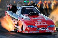 Oct. 14, 2011; Chandler, AZ, USA; NHRA funny car driver Jeff Diehl during qualifying at the Arizona Nationals at Firebird International Raceway. Mandatory Credit: Mark J. Rebilas-