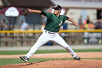 Clinton LumberKings pitcher Paul Fry (26) delivers a pitch during a game against the Beloit Snappers on August 17, 2014 at Ashford University Field in Clinton, Iowa.  Clinton defeated Beloit 4-3.  (Mike Janes/Four Seam Images)