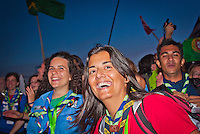 Girls from Sweden and Italy are celebrating after the IST Opening Ceremony