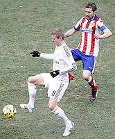 Atletico de Madrid's Gabi Fernandez (r) and Real Madrid's Toni Kroos during La Liga match.February 7,2015. (ALTERPHOTOS/Acero) /NORTEphoto.com