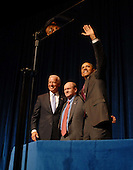 United States President Barack Obama, right, and U.S. Vice President Joe Biden, left, make a campaign stop in Wilmington, Delaware on behalf of Democratic U.S. Senate candidate Chris Coons.  Coons is running for the U.S. Senate seat formerly held by VP Biden..Credit: Phil McAuliffe - Pool via CNP