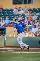 Tommy Joseph (22) of the Round Rock Express bats against the Omaha Storm Chasers at Werner Park on May 27, 2018 in Papillion , Nebraska. Round Rock defeated Omaha 8-3. (Stephen Smith/Four Seam Images)