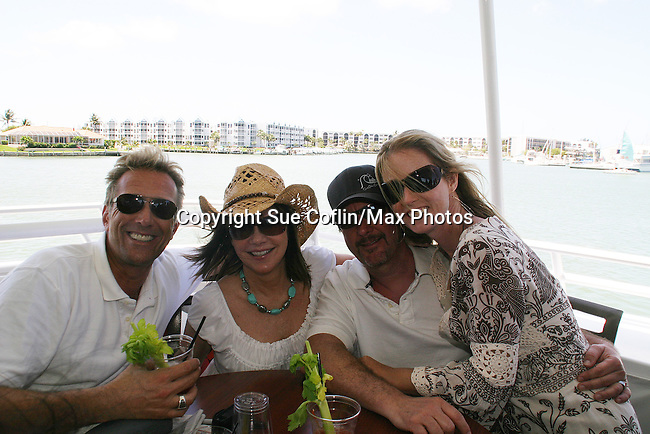 Willey - Eakes - hubby David - Haskell - 11th Annual SoapFest - Cruisin' & Schmoozin' on the Marco Island Princess to raise dollars to benefit Marco Island YMCA, theatre program & Art League of Marco Island on May 2, 2009 on Marco Island, FLA. (Photo by Sue Coflin/Max Photos)