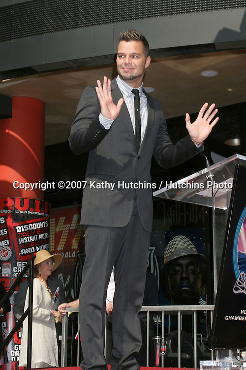 Ricky Martin.Ricky Martin receives star on the Hollywood Walk of Fame.Los Angeles,   CA.October 16, 2007.©2007 Kathy Hutchins / Hutchins Photo...               .