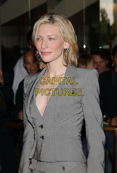 CATE BLANCHETT.77th Annual Academy Award Nominees Luncheon held at the Beverly Hilton Hotel. Beverly Hills, California .February 7th, 2005.Photo Credit: Jacqui Wong/AdMedia.half length, gray, grey suit jacket plunging neckine, cleavage.www.capitalpictures.com.sales@capitalpictures.com.© Capital Pictures.