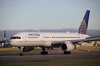 A United Airlines Boeing 757-224 Registration N34137 at Manchester Airport on 11.2.19 going to New York Newark Liberty International Airport, United States of America.