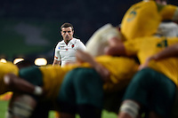 George Ford of England looks on. Rugby World Cup Pool A match between England and Australia on October 3, 2015 at Twickenham Stadium in London, England. Photo by: Patrick Khachfe / Onside Images