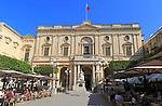 Queen Victoria statue in front of National Library building, Republic Square, Valletta, Malta