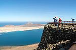 La Graciosa island, Lanzarote, Canary Islands, Spain view from Mirador del Rio
