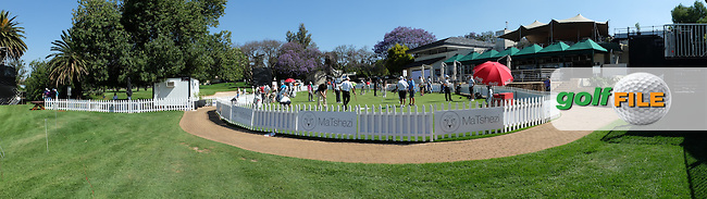 Panoramic view of the putting area during the practice day at the SA Open Championship 2013 at the Glendower Golf Club, Johannesburg, South Africa. Picture:  David Lloyd / www.golffile.ie