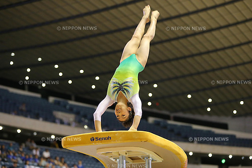 Yuki Uchiyama (JPN),<br /> JUNE 8, 2013 - Artistic gymnastics : <br /> The 52nd NHK Cup, Woen's Individual All-Around 1st Day <br /> at Yoyogi 1st Gymnasium, Tokyo, Japan. <br /> (Photo by AFLO SPORT) [1156]