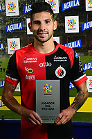 CÚCUTA- COLOMBIA, 20-0-2019:Jhonathan Agudelo  jugador del Cúcuta Deportivo  elegido el jugador del partido ante el Independiente Santa Fe  durante partido por la fecha 2 de la Liga Águila II  2019 jugado en el estadio General Santander de la ciudad de Cúcuta . /<br /> Jhonathan Agudelo Cúcuta Deportivo player elected the player of the match against Independiente Santa Fe   during the match for the date 2 of the Liga Aguila II 2019 played at the General Santander  stadium in Cucuta  city. Photo: VizzorImage / Manuel Hernández  / Contribuidor