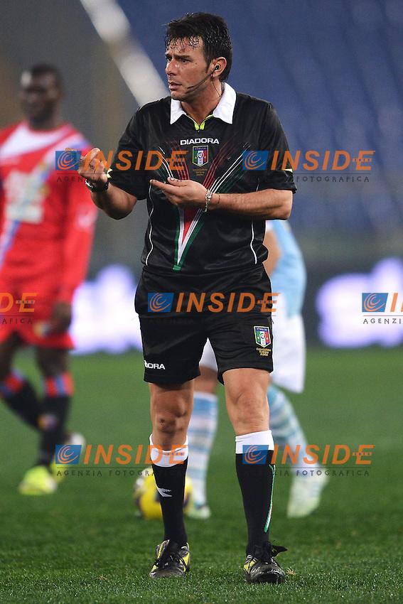 L'arbitro Domenico Celi .Roma 08/01/2013 Stadio Olimpico.Football Calcio 2012/2013 Coppa Italia.Lazio Vs Catania 3-0.Foto Andrea Staccioli Insidefoto