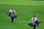 Eoropean caddies during Practice Day 3 of the The 2010 Ryder Cup at the Celtic Manor, Newport, Wales, 29th September 2010..(Picture Eoin Clarke/www.golffile.ie)