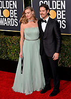 LOS ANGELES, CA. January 06, 2019: Yvonne Strahovski & Tim Loden at the 2019 Golden Globe Awards at the Beverly Hilton Hotel.<br /> Picture: Paul Smith/Featureflash