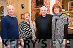 Brendan Kennelly Celebration: Attending the event to celebrate the 80th birthday of poet Brendan Kennelly at the Listowel Arms Hotel on Sunday last were archivest Michael Lynch, Liz Dunn, Dr. Mark Hederman, Abbot Glenstall Abbey & Maura Logue, Writers Week.