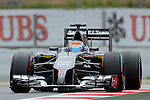 Sauber's driver Esteban Gutierrez drives during a race at the Circuit de Catalunya on May 11, 2014. <br /> PHOTOCALL3000/PD