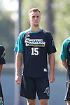 02 September 2013: Coastal Carolina's Simon Laugsand (NOR). The University of North Carolina Tar Heels hosted the Coastal Carolina University Chanticleers at Fetzer Field in Chapel Hill, NC in a 2013 NCAA Division I Men's Soccer match. UNC won the game 4-0.