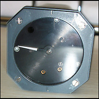 BNPS.co.uk (01202 558833)<br /> Pic: ChaucerAuctions/BNPS<br /> <br /> ***Please Use Full Byline***<br /> <br /> FYI: The Concorde Prototype Intake Gauge. An early prototype variant of the production 'Intake Pressure Ratio Error Instrument'. This instrument flew during the 1970s Concorde Flight Test Programme. <br /> <br /> <br /> Legendary airline pilot Mike Bannister is selling 100,000 pounds worth of his Concorde memorabilia so he can fund his daughter through flying school.<br /> <br /> Amy Bannister, 20, is hoping to following in her father's jet-stream to become a commercial airline pilot and is currently at a flight training school in Spain.<br /> <br /> The prestigious course is costing her a six figure sum.<br /> <br /> Her father Mike, 65, didn't want her burdened with debt at the start of her career and so stripped his study of Concorde relics, including cockpit instruments, and has put them up for sale at auction.