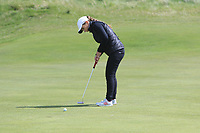 Gemma Allman (ENG) on the 8th green during Round 3 of the Irish Women's Open Stroke Play Championship 2018 on Sunday 13th May 2018.<br /> Picture:  Thos Caffrey / Golffile<br /> <br /> All photo usage must carry mandatory copyright credit (&copy; Golffile | Thos Caffrey)