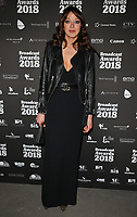Diane Morgan at the Broadcast Awards 2018, Grosvenor House Hotel, Park Lane, London, England, UK, on Wednesday 07 February 2018.<br /> CAP/CAN<br /> &copy;CAN/Capital Pictures