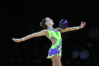 September 20, 2011; Montpellier, France;  POLINA KOZITSKIY of USA performs with ball at 2011 World Championships.