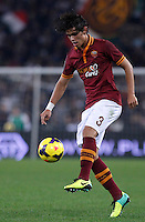 Calcio, Serie A: Roma vs ChievoVerona. Roma, stadio Olimpico, 31 ottobre 2013.<br /> AS Roma defender Dodo', of Brazil, in action during the Italian Serie A football match between AS Roma and ChievoVerona at Rome's Olympic stadium, 31 October 2013.<br /> UPDATE IMAGES PRESS/Isabella Bonotto