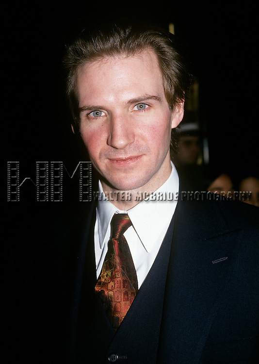Ralph Fiennes pictured in New York City in 1995.
