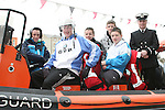 Sam Murray, Jonathon Lynch, Peter Reilly, Jack Dunne and Cathal Kavanagh in the Coastguard boat at Scotch Hall..Photo NEWSFILE/Jenny Matthews.(Photo credit should read Jenny Matthews/NEWSFILE)....This Picture has been sent you under the condtions enclosed by:.Newsfile Ltd..The Studio,.Millmount Abbey,.Drogheda,.Co Meath..Ireland..Tel: +353(0)41-9871240.Fax: +353(0)41-9871260.GSM: +353(0)86-2500958.email: pictures@newsfile.ie.www.newsfile.ie.FTP: 193.120.102.198.