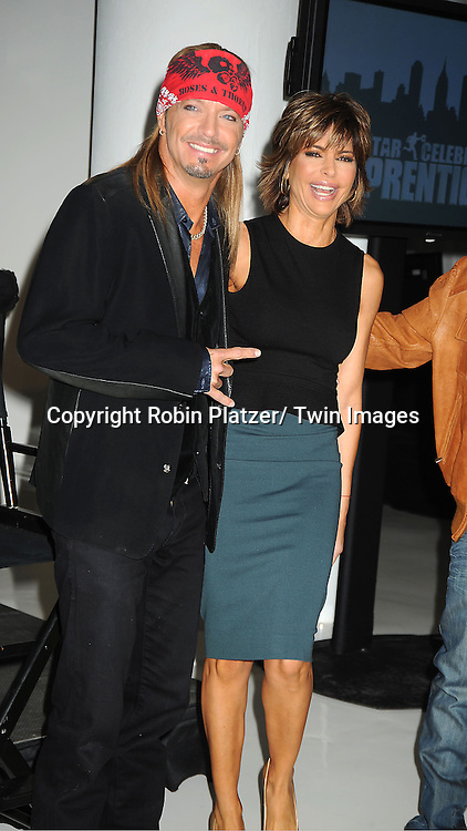 Bret Michaels, Lisa Rinna attends the All-Star Celebrity Apprentice announcement on October 12, 2012 at Jack Studio in New York City. .The celebrity apprentices are Trace Adkins,  Stephen Baldwin, Gary Busey, Penn Jillette, Lil Jon, Bret Michaels, Dennis Rodman, Dee Snider, Marilu Henner, La Toya Jackson, Claudia Jordan, Omarosa, Lisa Rinna and  Brande Roderick.