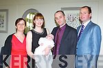 Zoe Brennan and Martin O'Connor, Hazelwood Drive Killarney celebrate the christening of their son Ben with his god parents Aideen O'Connor and Dylan Brennan in the Killarney Heights hotel on Saturday