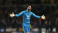 Wolverhampton Wanderers' Rui Patricio celebrates his side's second goal<br /> <br /> Photographer Rob Newell/CameraSport<br /> <br /> The Premier League - Wolverhampton Wanderers v West Ham United - Tuesday 29th January 2019 - Molineux - Wolverhampton<br /> <br /> World Copyright © 2019 CameraSport. All rights reserved. 43 Linden Ave. Countesthorpe. Leicester. England. LE8 5PG - Tel: +44 (0) 116 277 4147 - admin@camerasport.com - www.camerasport.com