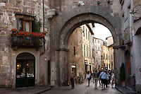 Town of Lucca in north west Italy