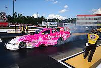 May 16, 2014; Commerce, GA, USA; NHRA funny car driver Tony Pedregon during qualifying for the Southern Nationals at Atlanta Dragway. Mandatory Credit: Mark J. Rebilas-USA TODAY Sports