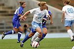 09 October 2005: North Carolina's Lori Chalupny (17). The Duke Blue Devils defeated the #1 ranked Carolina Tar Heels 2-1 at Fetzer Field in Chapel Hill, North Carolina in a regular season Atlantic Coast Conference women's soccer game.