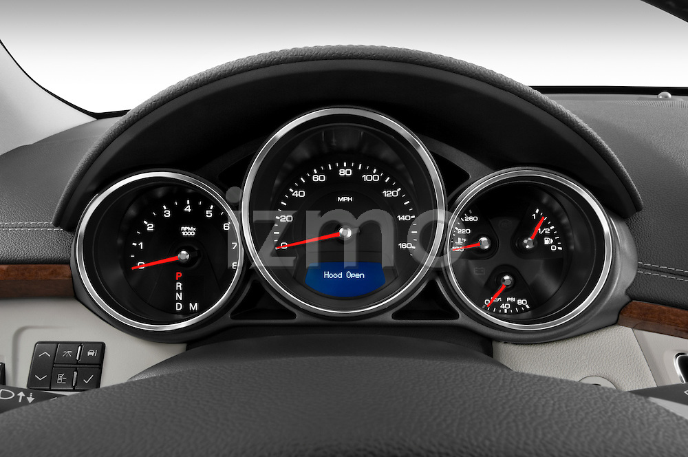 Instrument panel close up detail view of a 2008 Cadillac CTS sedan