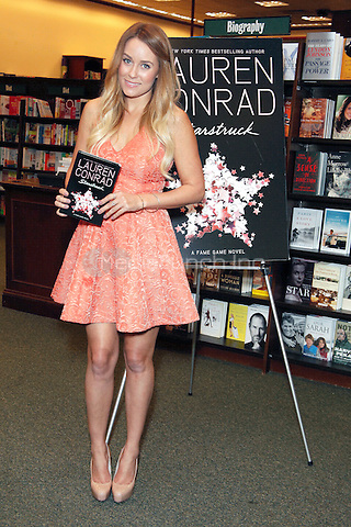FAIRLESS HILLS, PA - OCTOBER 17 :  Lauren Conrad, star of The Hills pictured at a book signing for Starstruck and Beauty at Barnes and Noble in Fairless Hills, Pa on October 17, 2012  © Star Shooter / MediaPunch Inc