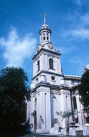 Nicholas Hawksmoor: St. Alfege, Greenwich. 1712-1718. Church last restored in 1953. Photo '79.