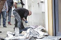 São Paulo,SP,22.10.2014 - MORTE OFICIAL DA PM - Uma oficial da reserva da Policia Militar reagiu a um assalto e foi morto a tiros na manhã desta quarta - feira (22) na Rua Engenheiro Lauro Penteado,no bairro do Ipiranga,zoan sul de São Paulo (Foto: Carlos Pessuto/Brazil Photo Press)
