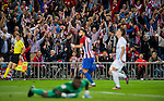 Club Atletico de Madrid fans cheer as Yannick Ferreira Carrasco of Club Atletico de Madrid scores during their La Liga match between Club Atletico de Madrid and Malaga CF at the Estadio Vicente Calderón on 29 October 2016 in Madrid, Spain. Photo by Diego Gonzalez Souto / Power Sport Images