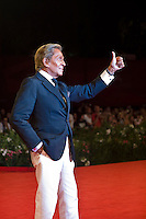 Designer Valentino Garavani attends the 'W.E.' premiere at the Palazzo Del Cinema during the 68th Venice Film Festival