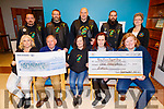 Southwest MCC presents cheques to the Kerry Hospice for €1000 and €1000 to the Cork Kerry Cancer Support Group at the Kerry Hospice in UHK on Saturday. <br /> Seated l to r: Anita Nolan, Joe Hennerby (Kerry Hospice), Mags Foley, Sonya Doyle and Linda Daly.<br /> Standing l to r: John Foley, Colm Farmer, Liam Counihan, Paul O'Sullivan and Breda Dyland (Cork Kerry Cancer Support Group)