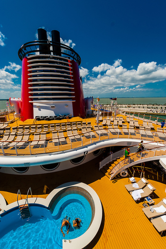 Disney Dream cruise ship, sailing between Florida and the Bahamas