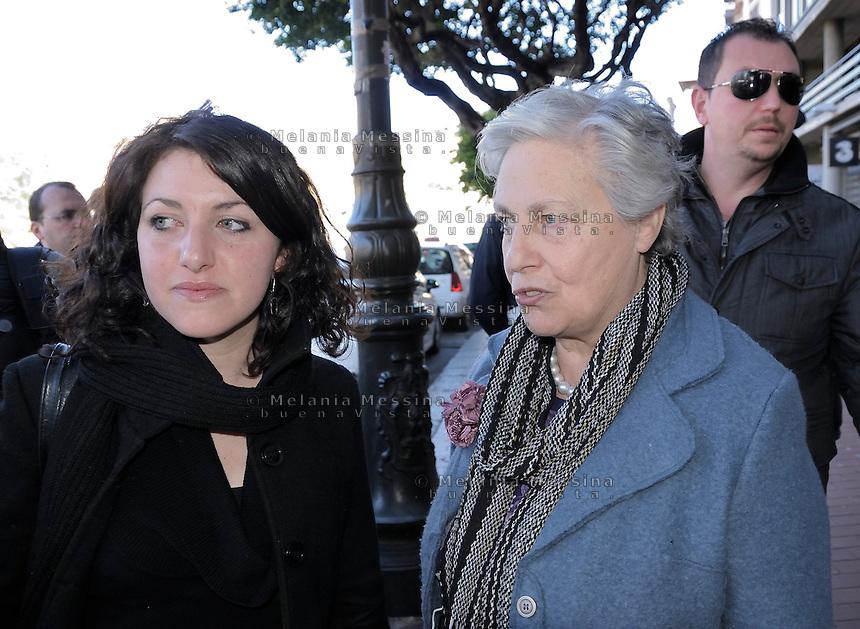 Rita Borsellino a Palermo con Mariangela Di Ganci.